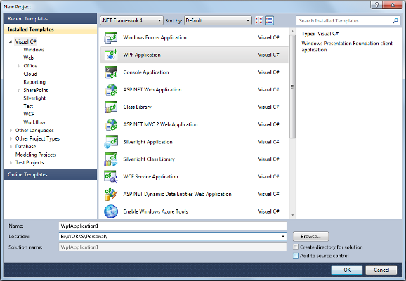 Creating WPF Application
