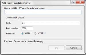 Adding A TFS Server