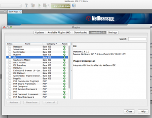 Git Plugin Installation on Netbeans IDE