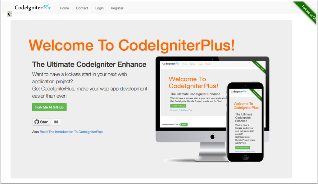 CodeigniterPlus Home screenshot