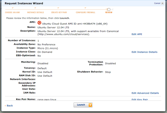 EC2 Instance Configuration Review
