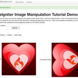 codeigniter image manipulation demo result