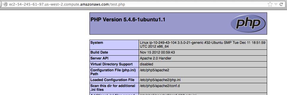 ubuntu ec2 running php
