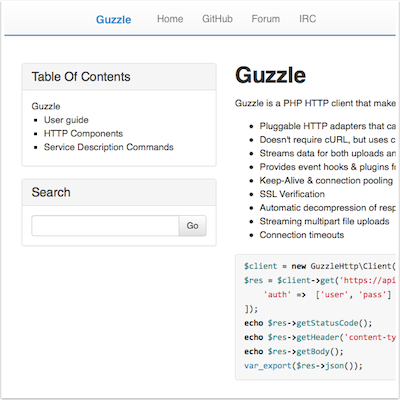 HTTP PHP Guzzle
